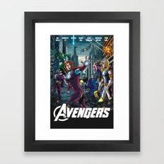 The Lady Avengers Framed Art Print