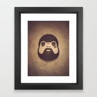 Framed Art Print featuring The Gamer by Powerpig