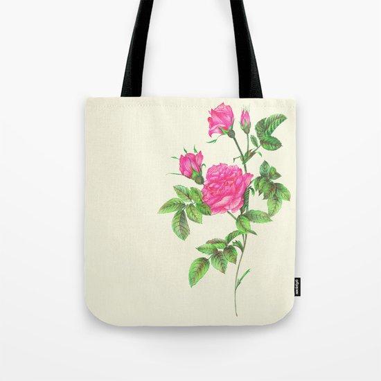Ballpoint Pen, Redouté's Roses Tote Bag