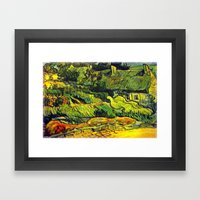Les Chaumes (Thatched Cottage) Framed Art Print