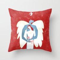 The New Christmas Family… Throw Pillow
