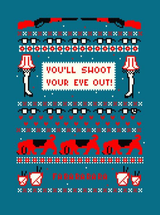 A Christmas Sweater (Blue) Art Print