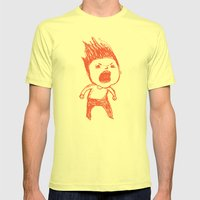 Sometimes Mens Fitted Tee Lemon SMALL