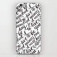 LIVE TO BE 100 iPhone & iPod Skin