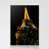 Eiffel Tower Lit Up At N… Stationery Cards