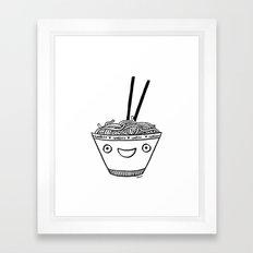 Happy Noodles Framed Art Print