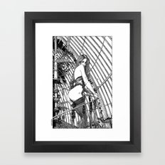 asc 318 - La dame de voyage (The starship escort girl) Framed Art Print