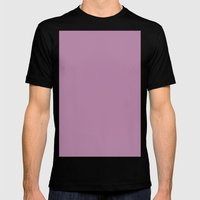 Opera mauve Mens Fitted Tee Black SMALL
