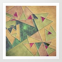 Earth Geometry Art Print