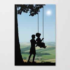 Childhood Dreams, Push Me Canvas Print