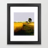 Wheat Fields Framed Art Print