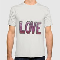 Love Design Mens Fitted Tee Silver SMALL