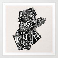 Somerset County, New Jer… Art Print