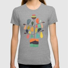 Potted Plant 4 Womens Fitted Tee Tri-Grey SMALL