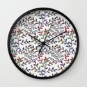Small, Colorful Leaves  Wall Clock