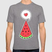 Watermelon 2 Mens Fitted Tee Tri-Grey SMALL