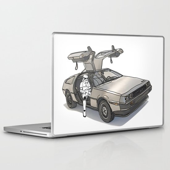 Stormtroooper in a DeLorean - star wars Laptop & iPad Skin