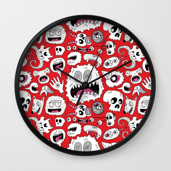 Another Monster Pattern Wall Clock