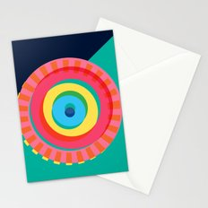 Layered Circles Stationery Cards