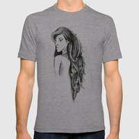 Hair Mens Fitted Tee Athletic Grey SMALL