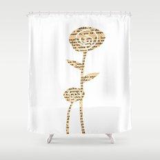 Papercut Flower 1 Shower Curtain