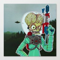 MARS ATTACKS Canvas Print
