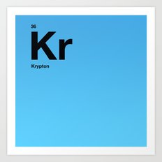 Krypton Art Print