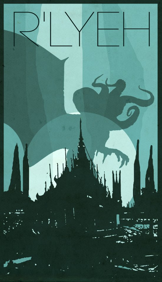Every City Has Its Creature -R'lyeh Art Print