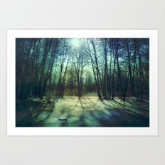 Winter lake Art Print
