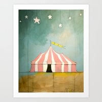Circus In The Sand Art Print