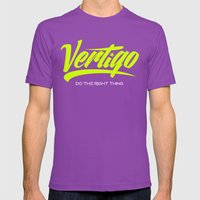 VERTIGO - LIME VERSION Mens Fitted Tee Ultraviolet SMALL