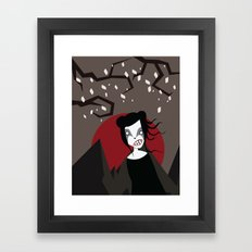 Under The Red Moon Framed Art Print