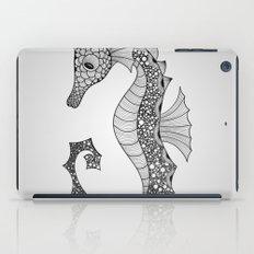 Drawn Seahorse iPad Case