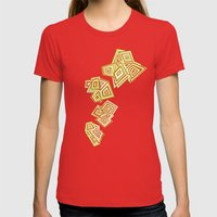 Evolving Womens Fitted Tee Red SMALL