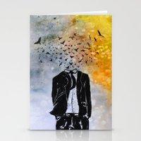 Man-Birds Stationery Cards