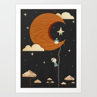 Escape To The Moon - Nig… Art Print