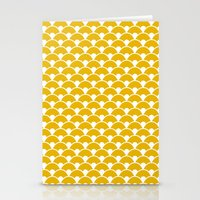 Dragon Scales Mustard Stationery Cards