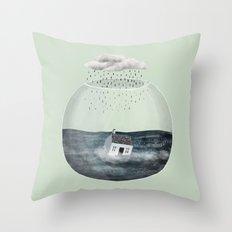 Glass Bowl House Throw Pillow