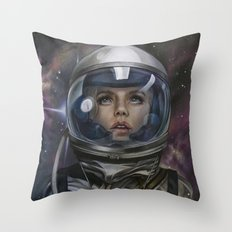 Astro Girl Throw Pillow