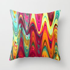 Megafunky rainbow patterns 2 Throw Pillow