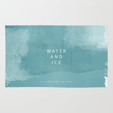 water and ice Rug