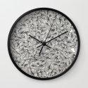 Knee-Deep in Black Ink Wall Clock