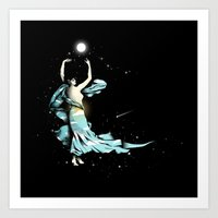 Dance Into The Moonlight Art Print