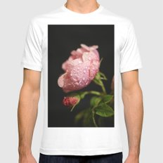 Weeping Rose II White SMALL Mens Fitted Tee