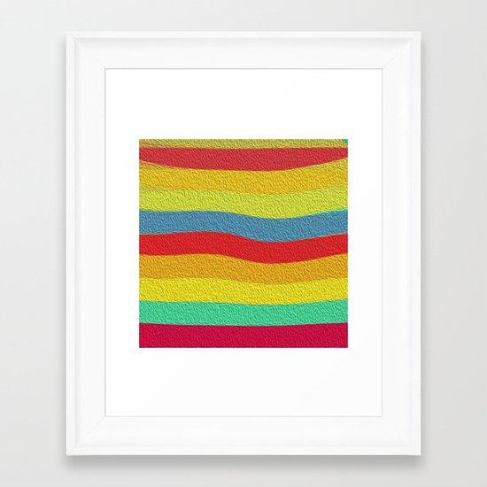 Bright Color Lineup Framed Art Print
