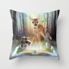 Believe In Magic • (Ba… Throw Pillow