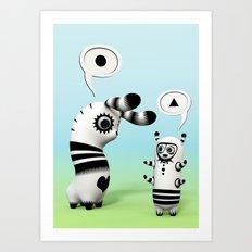 Lally Lama Art Print