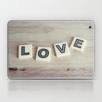 letter love Laptop & iPad Skin