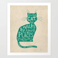'The Cat That Walked By … Art Print