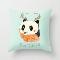 PANDEER :D Throw Pillow